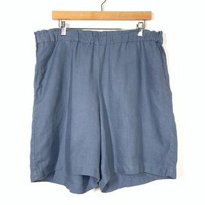 J Jill Pure Jill Linen Shorts Size 1X Light Blue